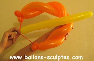 arc et flèche en ballons
