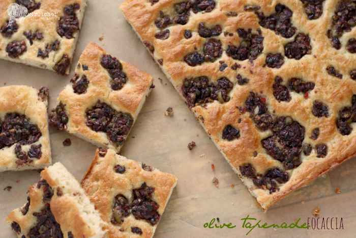 Olive Tapenade Focaccia - All Roads Lead to the Kitchen