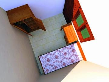 Gambar Desain Kamar Kost Mahasiswa - Interior 2