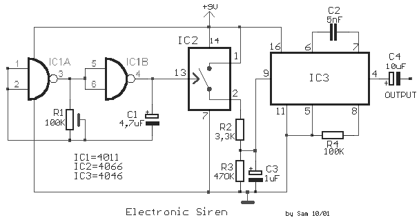 Fabulous Simple Electronic Siren Schematic Diagram Supreem Circuits Diagram Wiring Digital Resources Indicompassionincorg