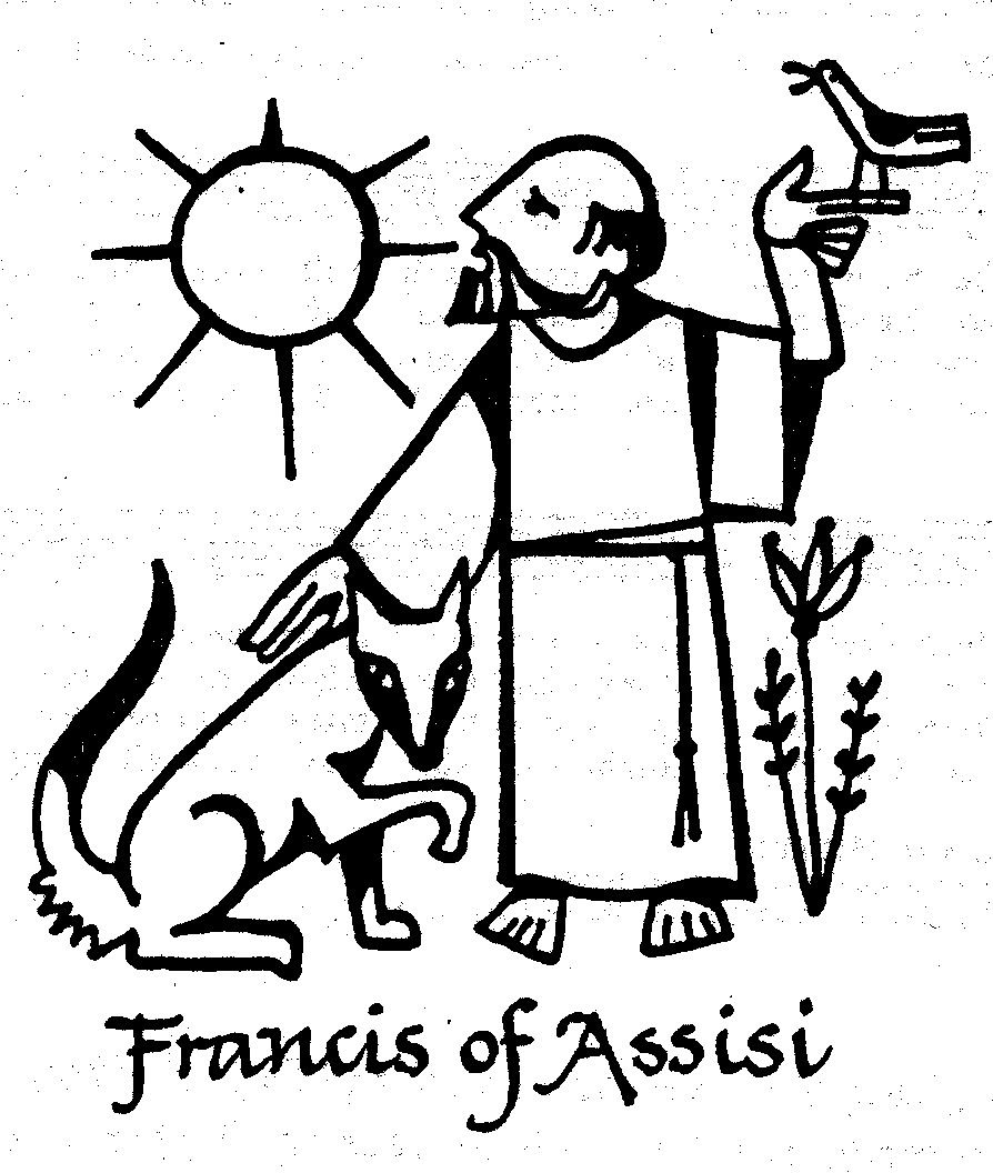 St Francis Coloring Page