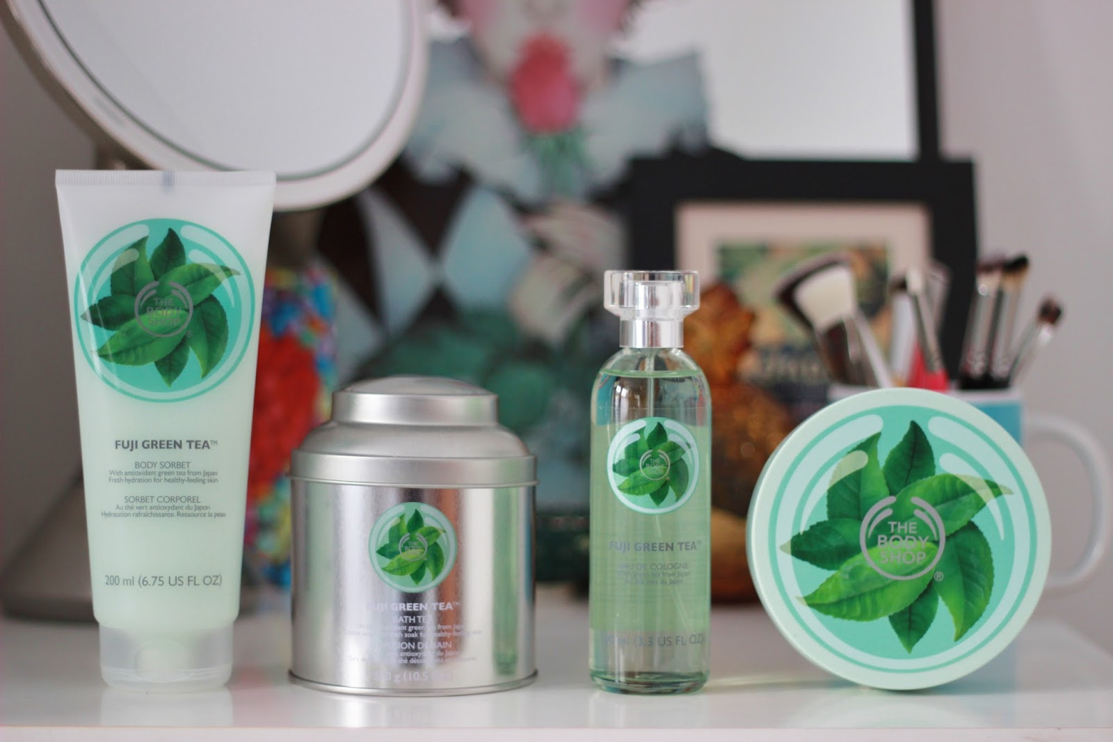 the body shop fuji green tea bath and body range