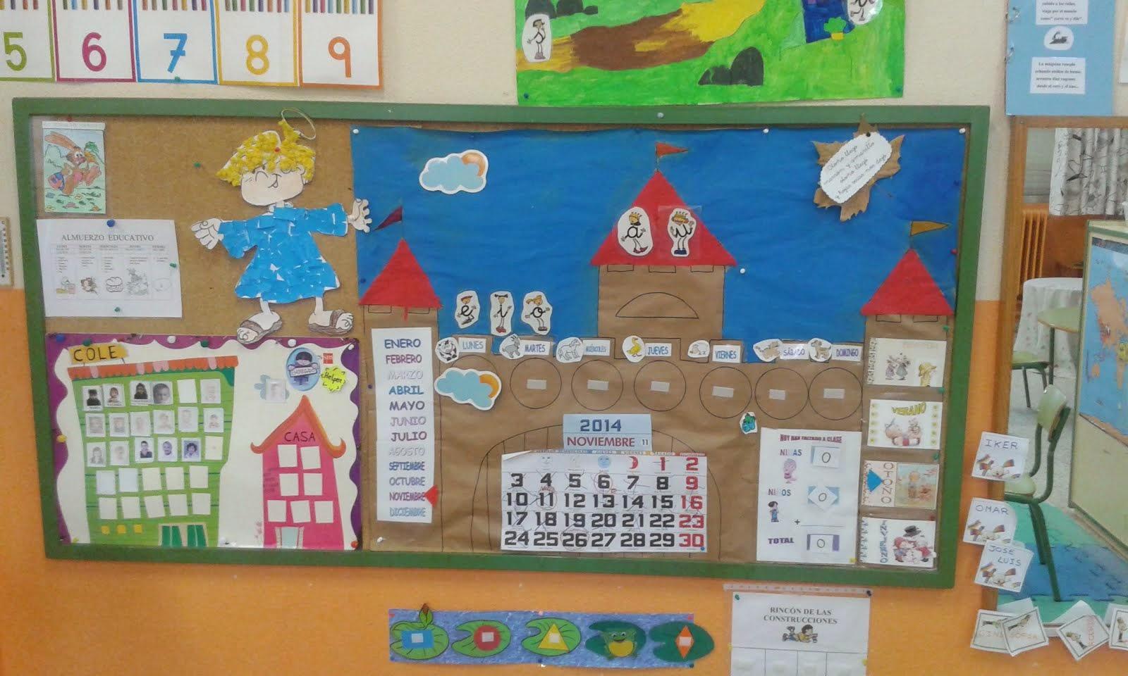 Experiencias en el aula infantil de aguilafuente for Decoracion aula infantil