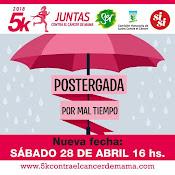5k Juntas contra el cáncer de mama (Canteras del parque Rodó - Montevideo, 28/abr/2018)