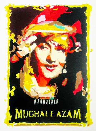 "Pradarshak presents ""Hollywood Bollywood Poster Art"" aerosolgrafia paintings by Sunil Gogia."