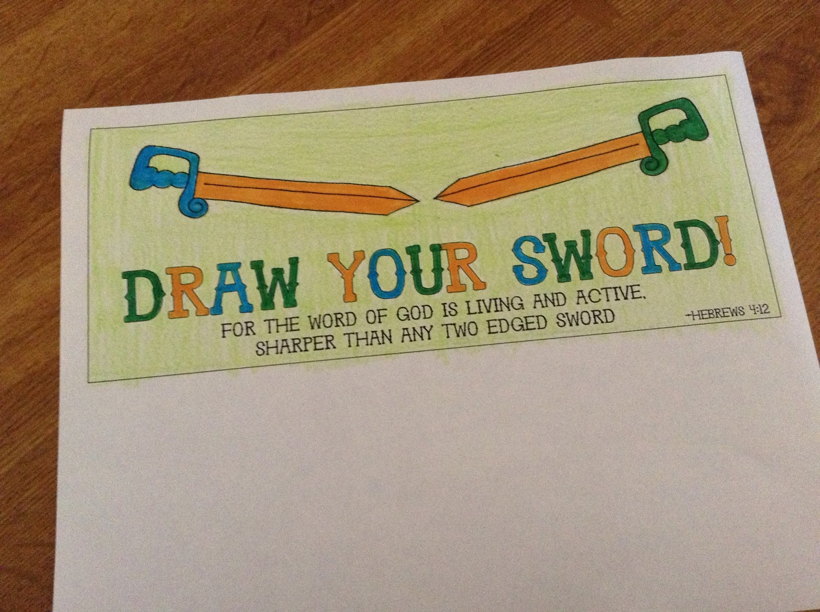 look to him and be radiant armor of god draw your sword game