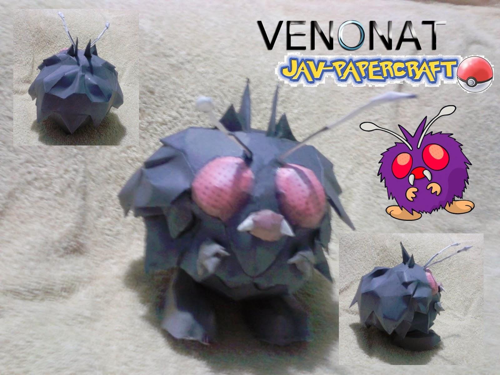 Pokemon Venonat Papercraft