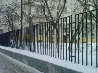 Забор металлический из профильной трубы. Фото 15