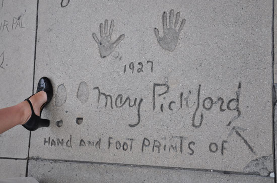 Mary Pickford footprints Grauman's Chinese Theater by Lady by Choice