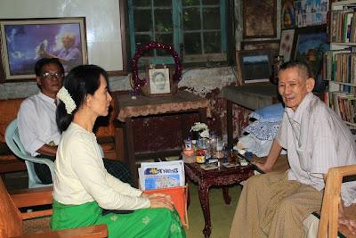>Daw Suu visited Ludu Sein Win