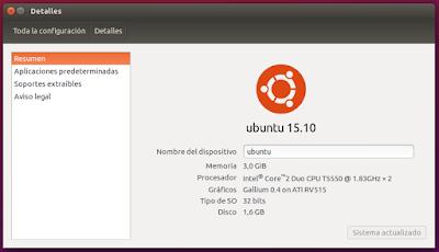 Detalles Ubuntu 15.10