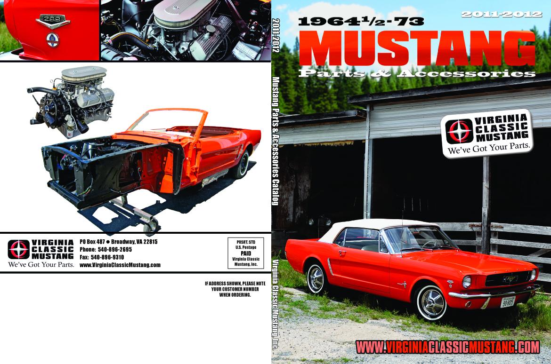 2011 2012 virginia classic mustang parts catalog