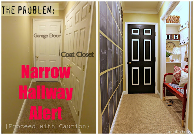 Turning a hallway into a mudroom
