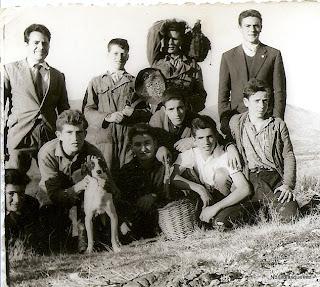 Candelario Salamanca mozos el día de los calbotes