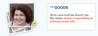 Netta rents out stuff she owns but doesn't use