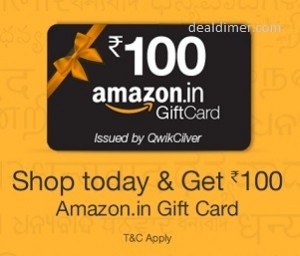 Free Rs. 100 Amazon Gift Card on ANY Purchase