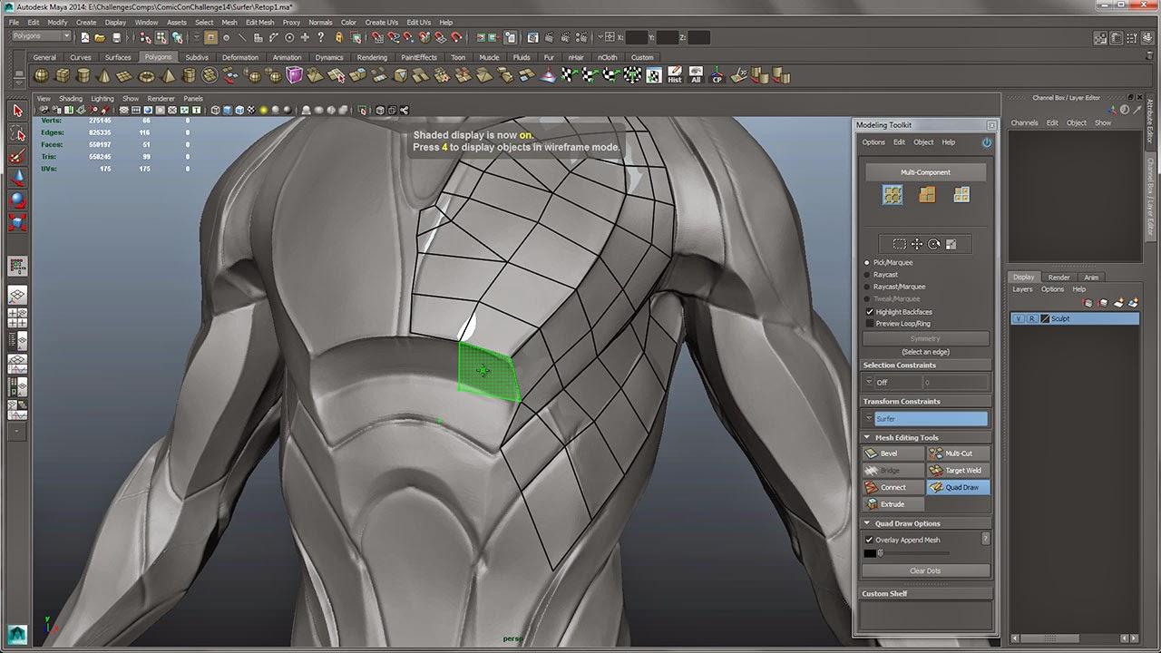 Character Design Maya : Gnomon d character design sculpt model render with josh