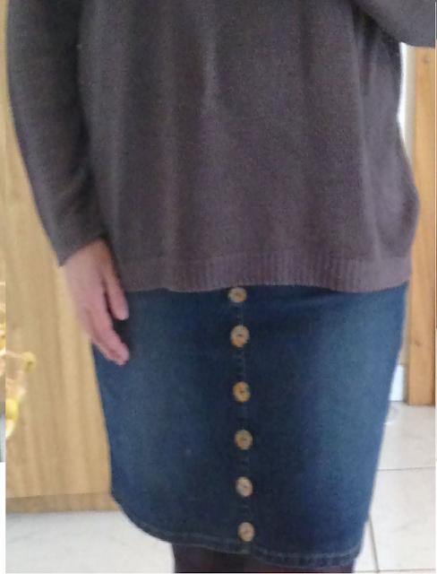 DIY falda con botones