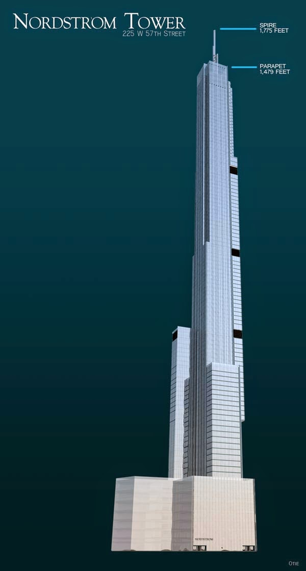 Nordstrom Tower to Become World's Tallest Residential Building at 1,775 Feet.