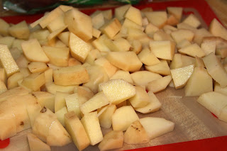 how to cut potatoes into cubes