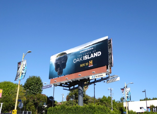 Curse of Oak Island season 3 billboard