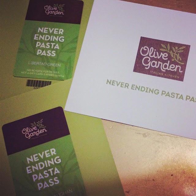 La Libertad: Restaurant Reviews: Olive Garden\'s Never Ending Pasta Pass