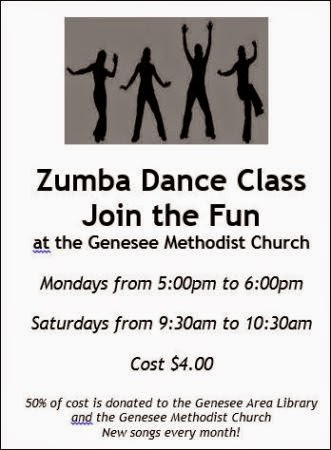 Mon. & Sat. Zumba At Genesee Methodist Church