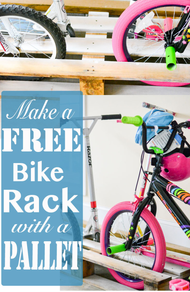 Make A Free Bike Rack Wood Pallet Project Artist Stephanie Weaver