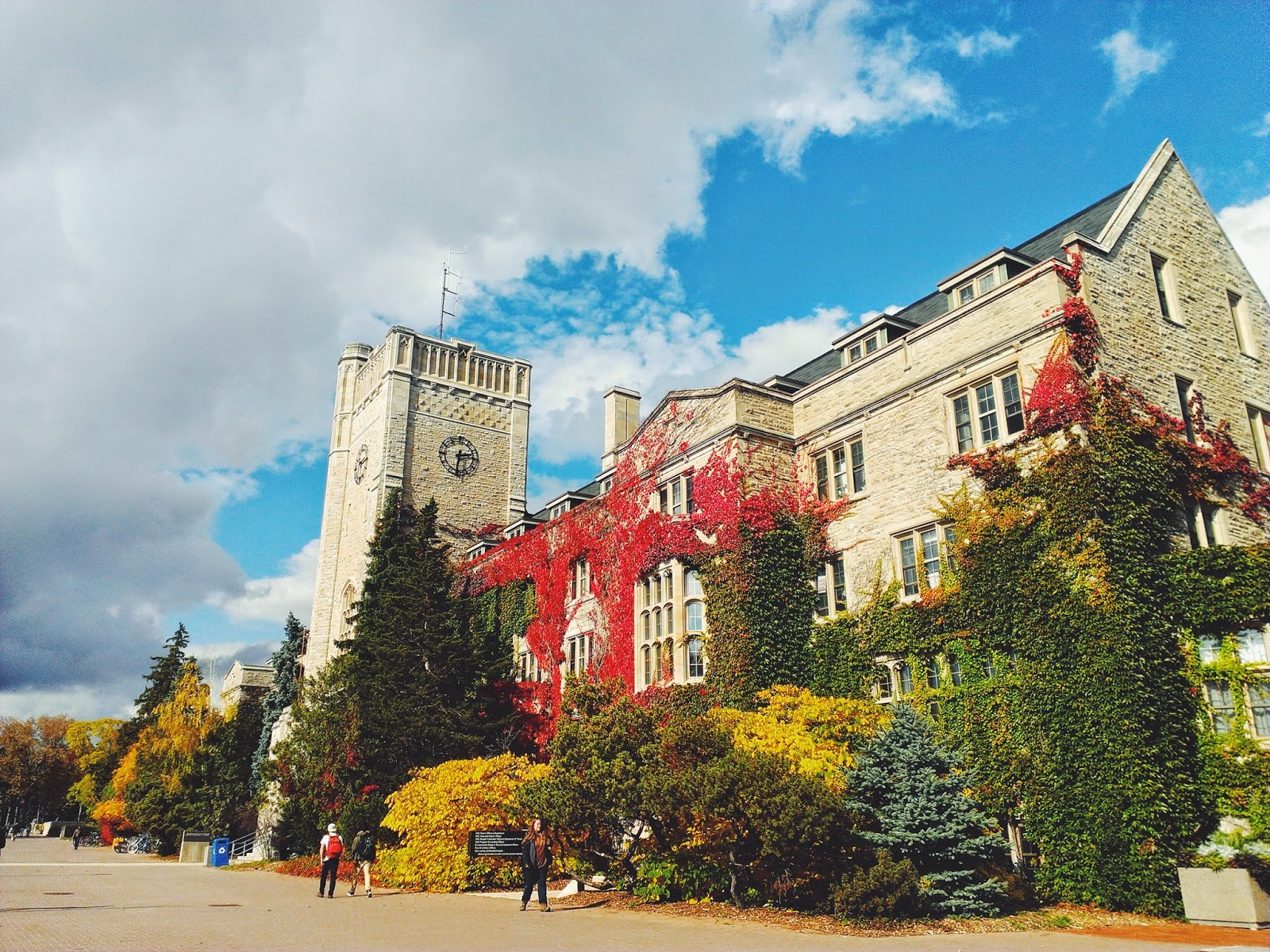 Colours of Fall. Johnston Hall, University of Guelph, Guelph, Canada height=