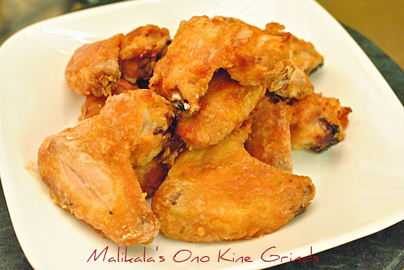Malikala's Ono Kine Grinds: Baked Crispy Chicken Wings