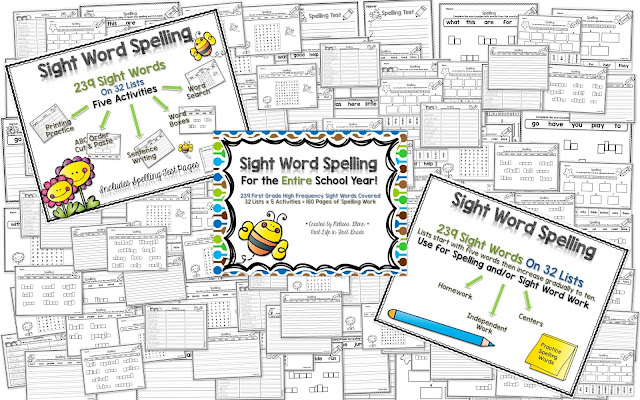 Sight Word Spelling for the ENTIRE Year Pack on TPT