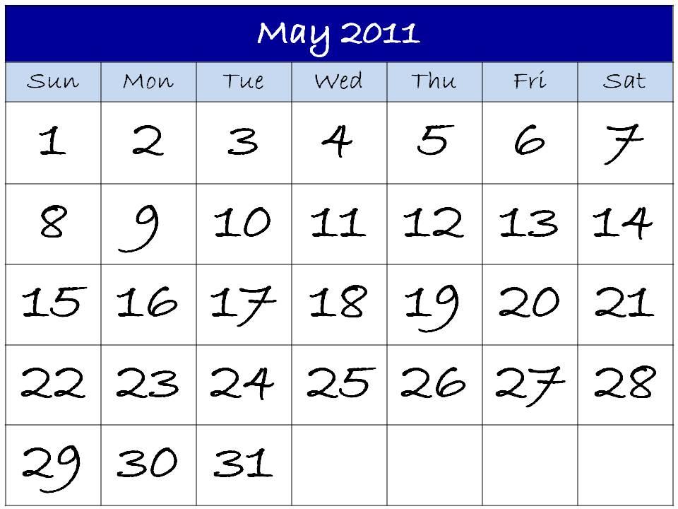 may 2011 calendar printable free. free printable 2011 calendars