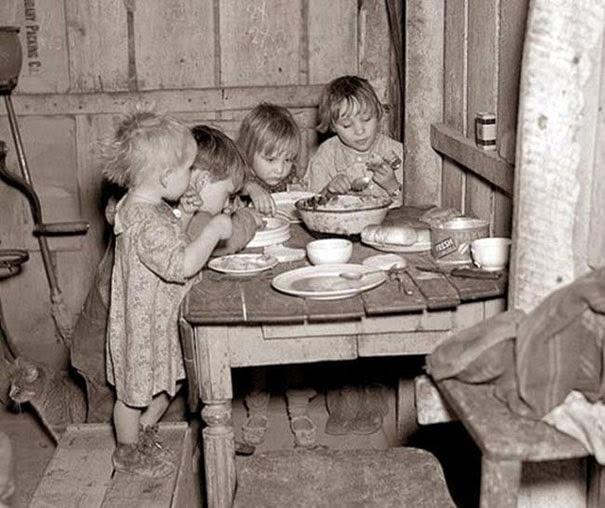 Рождественский обед во время Великой Депрессии: репа и капуста