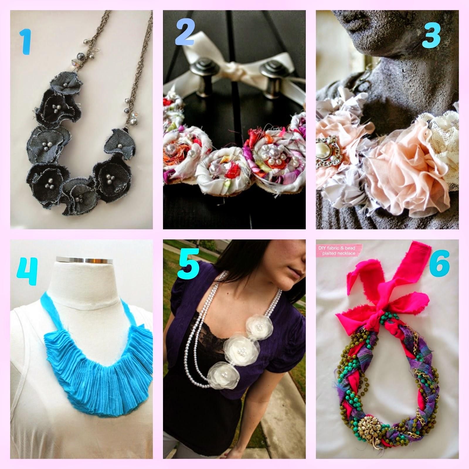Connu Come creare collane di stoffa. I tutorial più belli dal web- prima  XM74