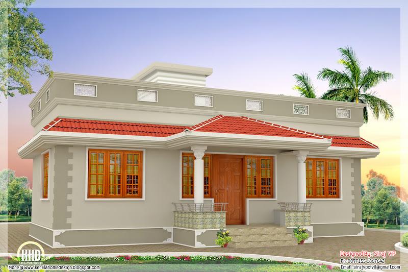 1000 sq.feet Kerala style single floor 3 bedroom home title=