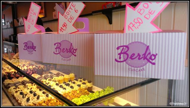 Cupcake cheesecakes Berko boutique rue Rambuteau Paris