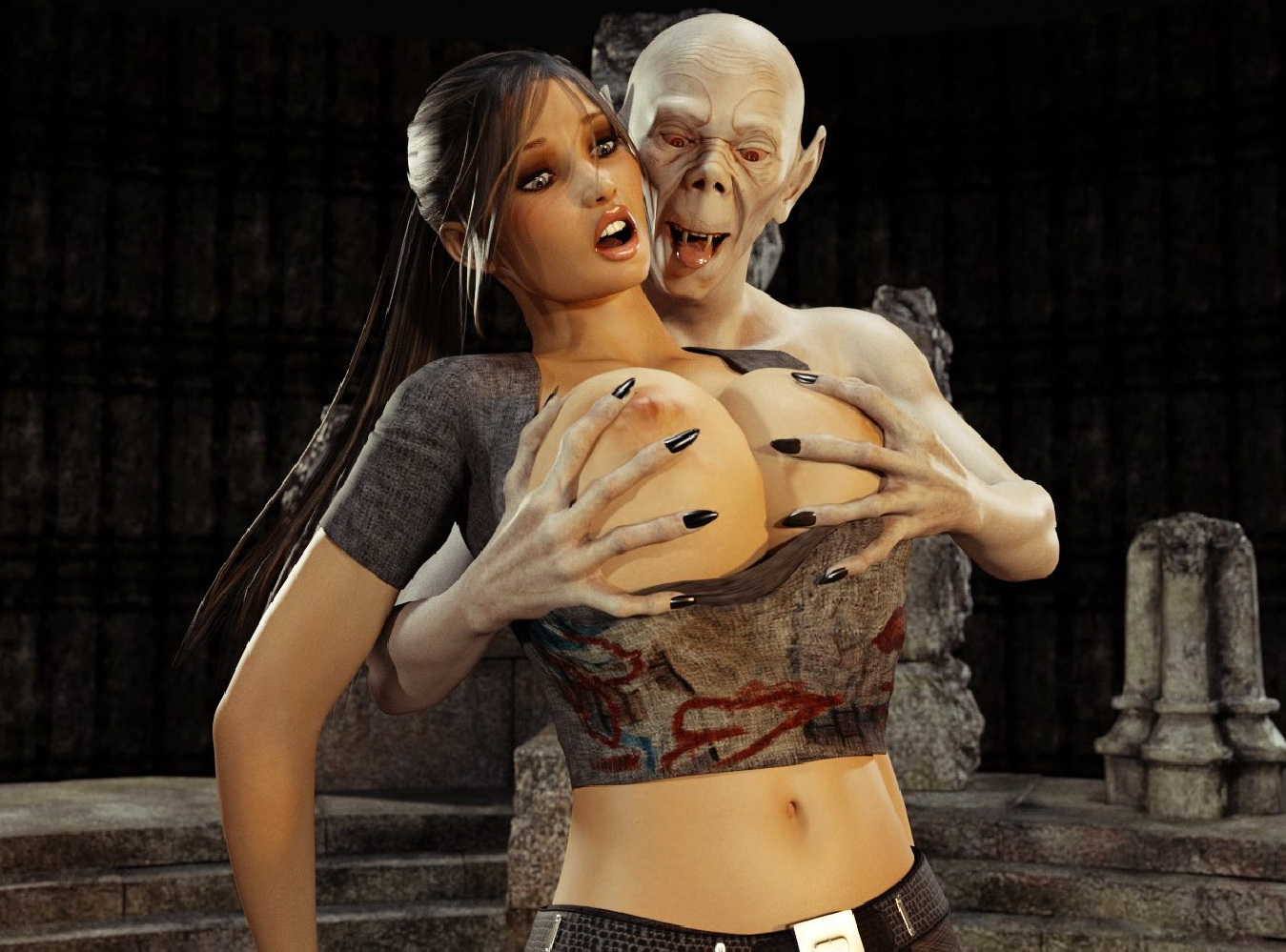 Lara croft raped by a vampire in  hentai gallery