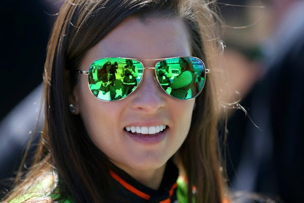 Danica Patrick, driver of the #10 GoDaddy Chevrolet, stands on the grid during qualifying for the 57th Annual Daytona 500 at Daytona International Speedway on February 15, 2015 in Daytona Beach, Florida. (February 14, 2015 - Source: Sarah Glenn/Getty Images North America)