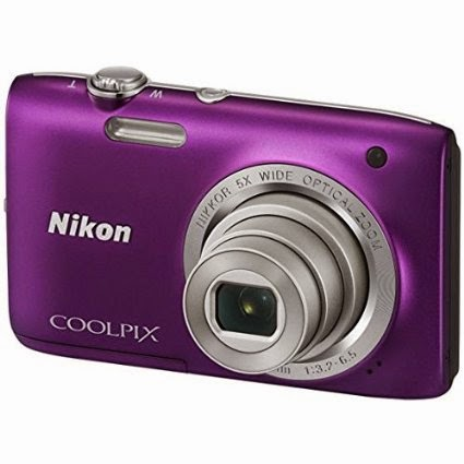 Amazon offer: Buy Nikon Coolpix S2800 (Purple) camera and 4gb card with case at Rs.4284 only