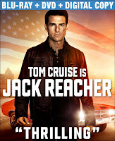 Jack Reacher Tom Cruise Blu-Ray DVD