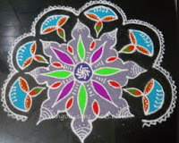 Colorful rangoli for Diwali - 2