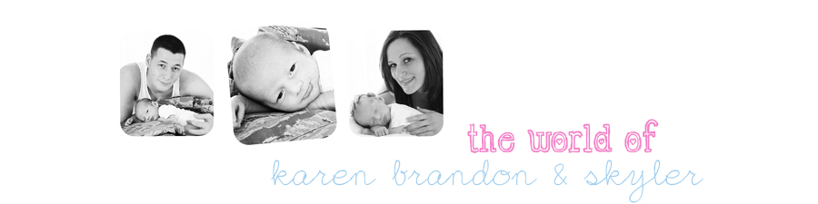 The World of Karen Brandon & little Skyler...