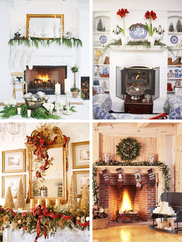 33 Mantel Christmas Decorations Ideas Interior: christmas interior decorating ideas