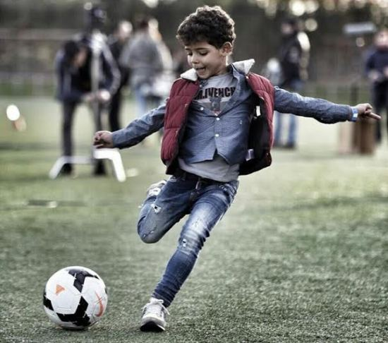 Cristiano Ronaldo shares a pic of his son playing football