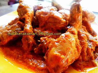 Resep Ayam Masak Enak Bumbu Santan