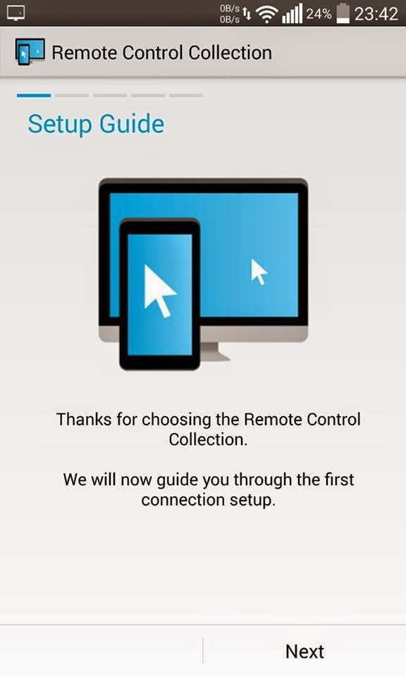 Remote control connection