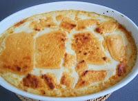 lasaña de bonito, puerro y queso afuega´l pitu