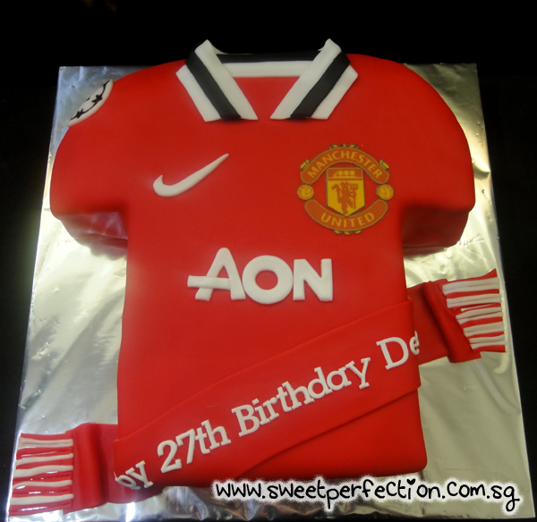 how to make a manchester united shirt cake