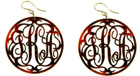 Swell Caroline Acrylic Monogram Earrings