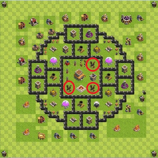 Formasi Base TH 8 War of Clash of Clans Terkuat